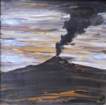 Volcan Medidas 40x40 Tecnica Oleo sobre Madera 2012